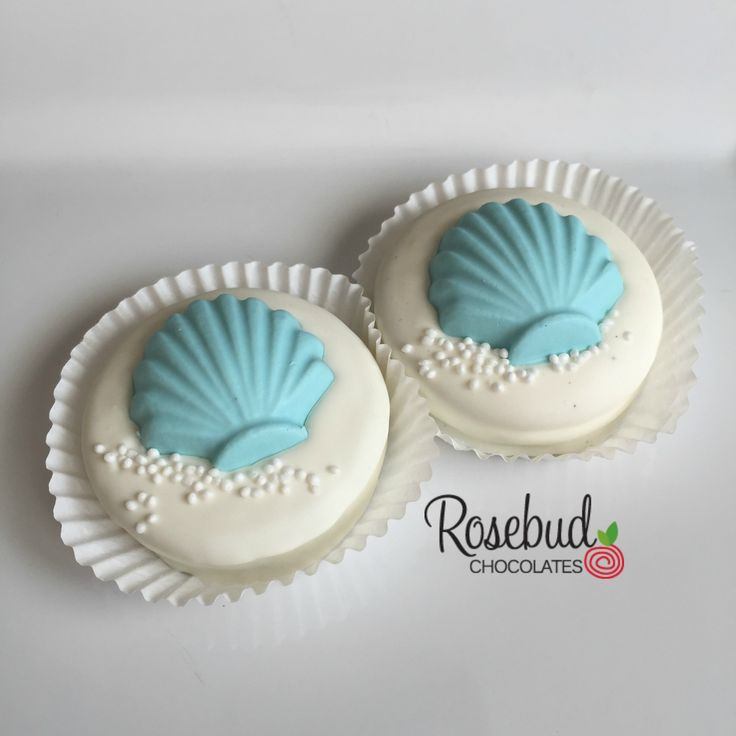 ideas for beach wedding party favors%0A SEASHELLS White Chocolate Covered oreo Cookie Favors  Beach Theme Wedding  Favors  Luau  Birthday