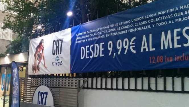 CR7 cede su imagen para un gimnasio en Madrid de la cadena Crunch Fitness