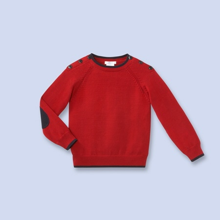 Jacadi nautical inspired knit pullover sweater