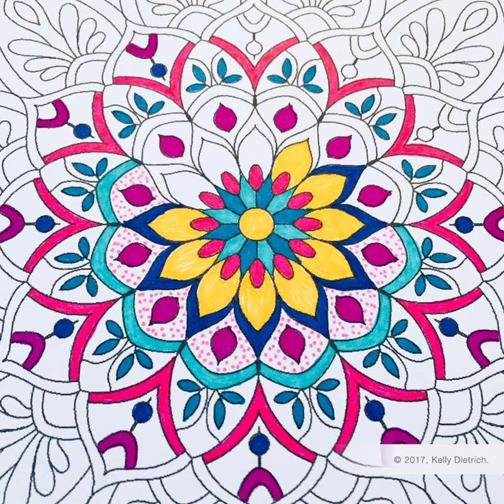Flower Mandala Free Printable Coloring Page