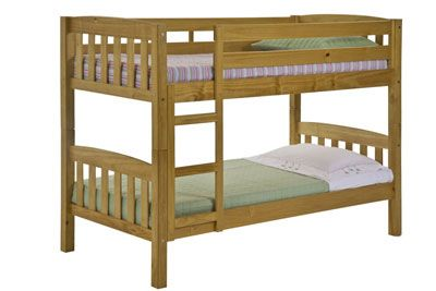 2ft6 x 5ft3 Verona America Shorty Bunk Bed in Antique £250 171L 85w 145h