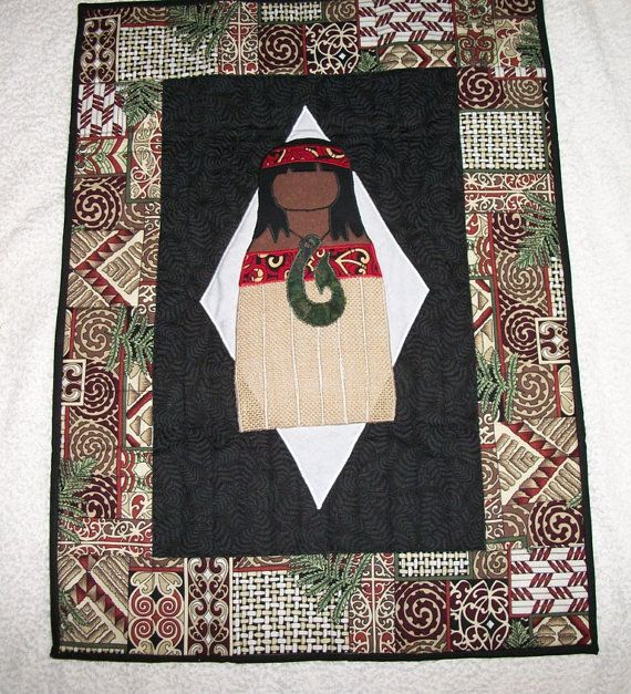 Maori Girl Wall Hanging / Table Mat by sharronmay on Etsy, $60.00
