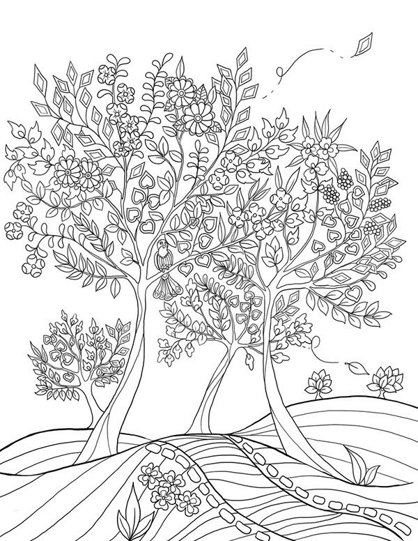 """mon jardin intérieur"" Coloring book agenda 2015 on Behance"