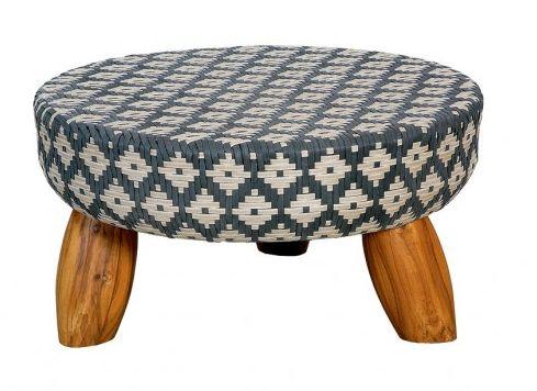 Mesa de centro Fava, com pés de teca, estrutura de ...