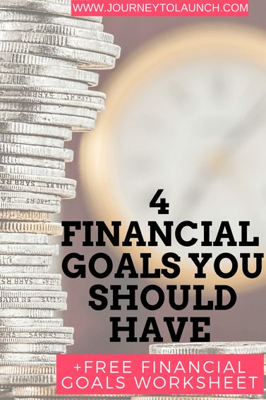 4 Financial Goals You Should Have Plus Free Financial Goals Worksheet