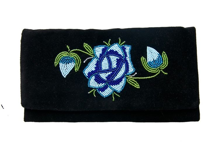 Velour bag with hand embroidery from Łowicz