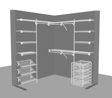 U0027Lu0027 Shape Closet 1   1.83m X 1.83m / 6u0027 X 6