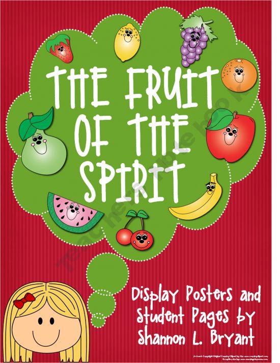 The Fruit of the Spirit Teaching Materials  Bryants-Brain-Train Shop -   Teachers Notebook