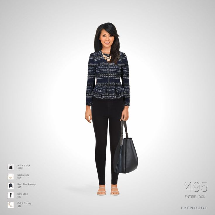 Fashion outfit made by Meli using clothes from Nordstrom, Rent The Runway, New Look, AllSaints UK, Call It Spring. Look made on Trendage.