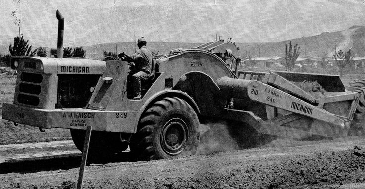 The A.J.Raisch Paving Co was a big Euclid customer but not afraid to try gear from other manufacturers and Michigan was no exception. This 210 is doing subgrade work on a housing estate in New Mexico, 1967.