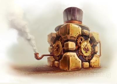 Steampunk Companion Cube