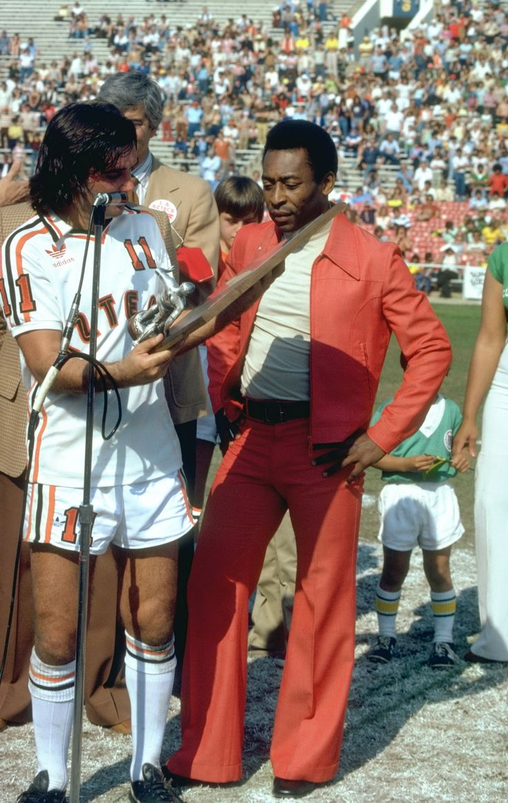 George Best and Pele, circa 1978.