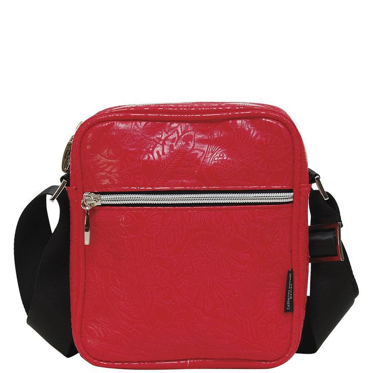 Small Walker Bag - Bright Red Emboss - Catherine Manuell Design