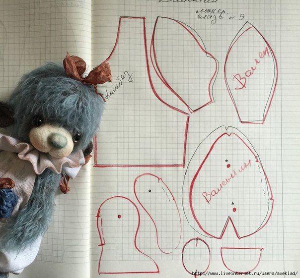 Выкройки мишек | 824 photos