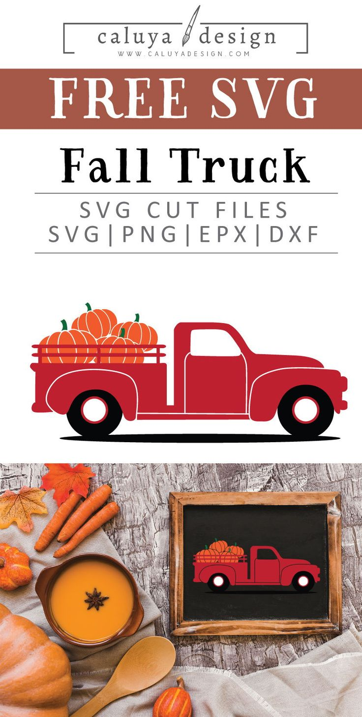 Old Truck Pumpkin Free SVG, PNG, EPS & DXF Download By C