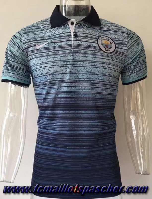 Site Vente Polo Foot Manchester City Gris 2017 2018 Pas Cher