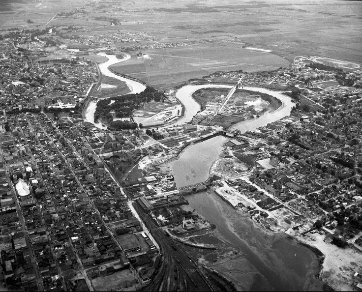 Rivière st Charles 1945 , son méandre