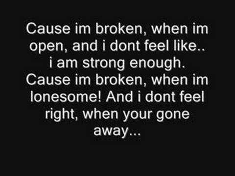 Broken-Seether & Amy Lee from Evanescence(Lyrics) HQ FULL  Even though this songs brings up painful memories (ironic), it's still a great song.