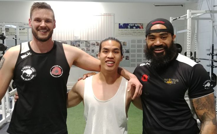 """We are often reminded as to what real, actual heroes look like.  The Invictus Games currently taking place in Toronto provides us with plenty of examples. Nu Filo and Allister Baker are two of them.  Daniel is looking smaller than he actually is standing"