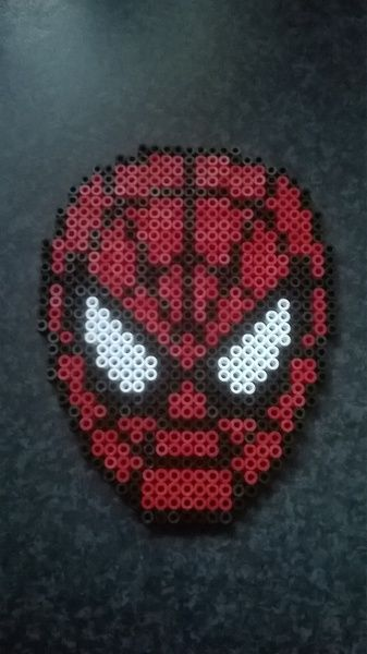 Spiderman perler beads by Perlerwonders