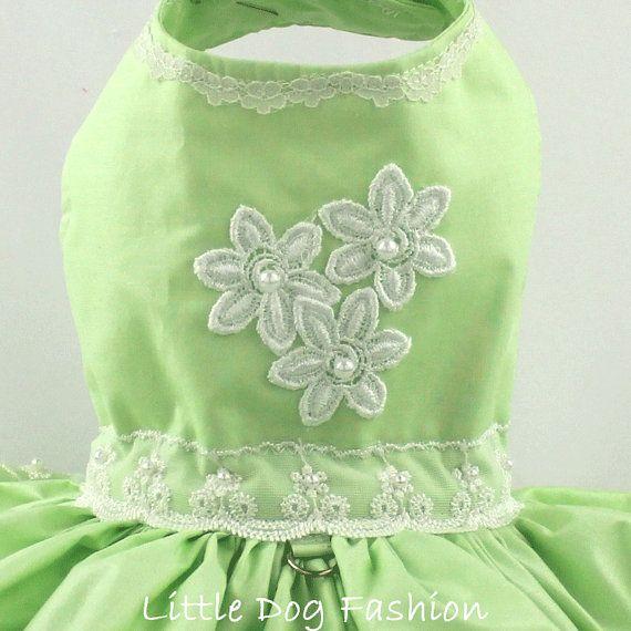 Perro vestido vestido de arnés del perro por LittleDogFashion
