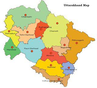 Uttarakhand posts: Uttarakhand : Districts