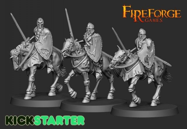 Forgotten World Undead Knights Fireforge S New Fantasy Range