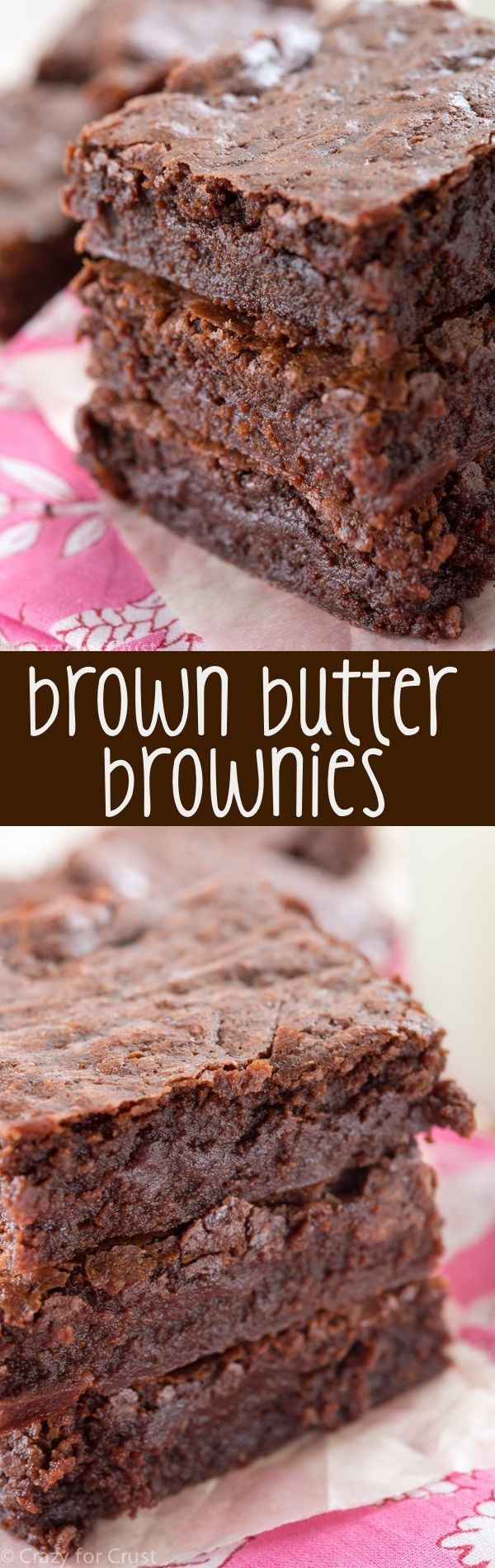 The BEST Brown Butter Brownies. This is such an easy brownie recipe! They're super fudgy and full of rich chocolate flavor!