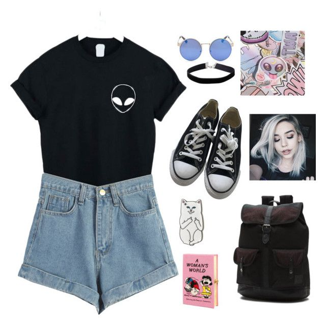 """Untitled #2"" by nastja-pessi on Polyvore featuring WithChic, Converse, Vans, RIPNDIP, Miss Selfridge and Olympia Le-Tan"