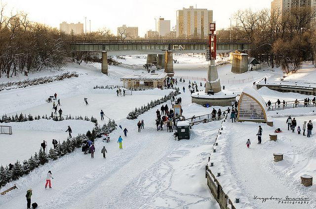 The Forks, Winnipeg, Manitoba, Canada. Photo by Krypton Photography Winnipeg, via Flickr