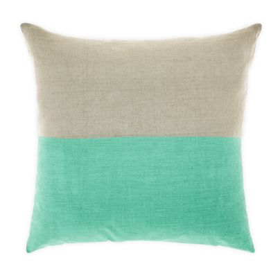 DIPPED CUSHION IN MINT 50CM
