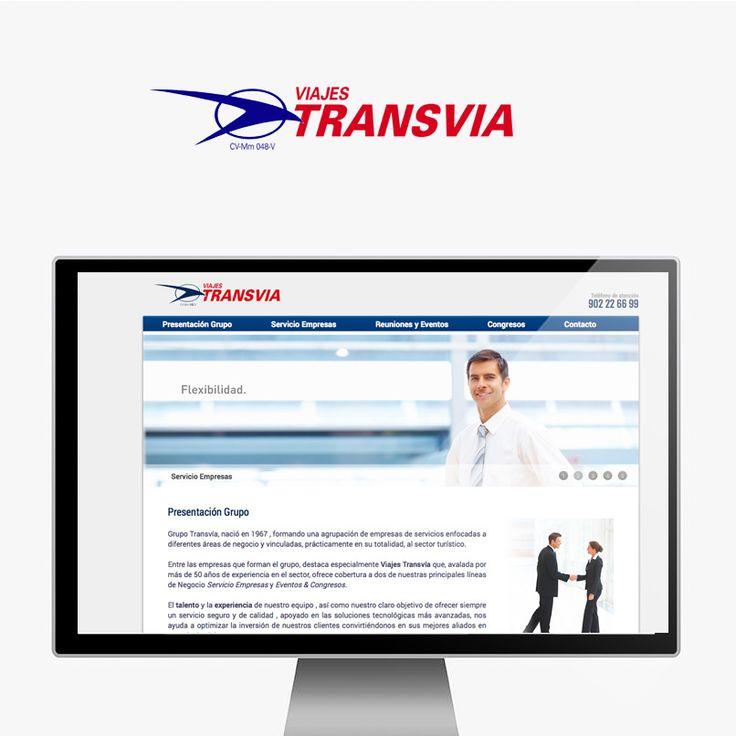 Webdesign para la página de servicios de empresa de Viajes Transvia.  http://viajestransviaempresas.com/