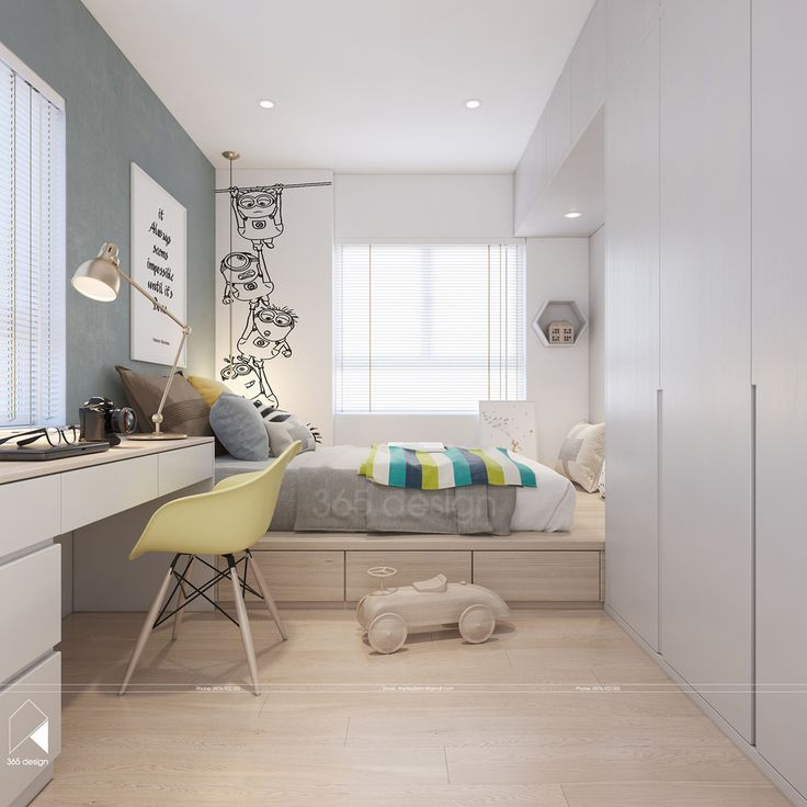 Photo of Modern Scandinavian design for the interior with children's room