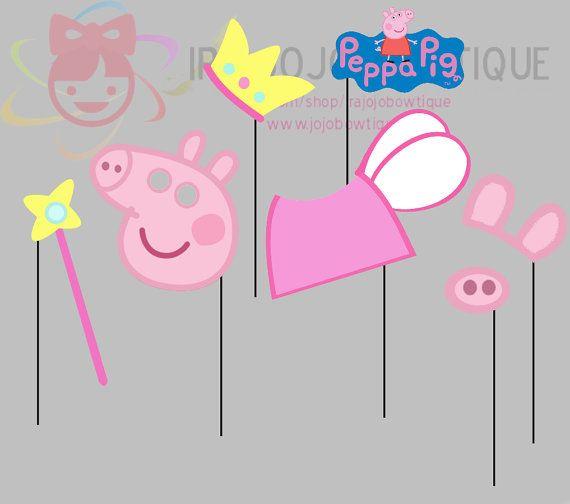 Peppa Pig fiesta foto Booth Props Peppa Pig por IraJoJoBowtique Más