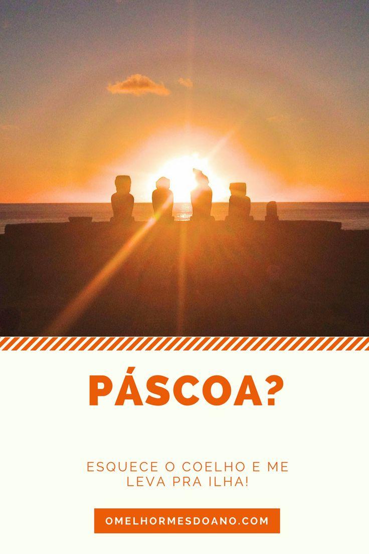 A Ilha de Páscoa é conhecida pelos moais - as estátuas de pedra feitas pelos nativos, as lindas praias, por do sol, vulcões, cultura polinésica e excelente comida.