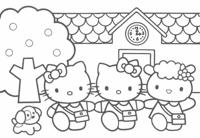 Hello Kitty And Friends Images To Print Hello Kitty Coloring Hello Kitty Colouring Pages Kitty Coloring