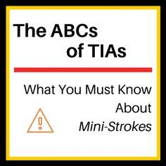 How serious is a mini-stroke or TIA (transient ischemic attack)? TIAs have the same symptoms as strokes: facial drooping, limb weakness and impaired speech.