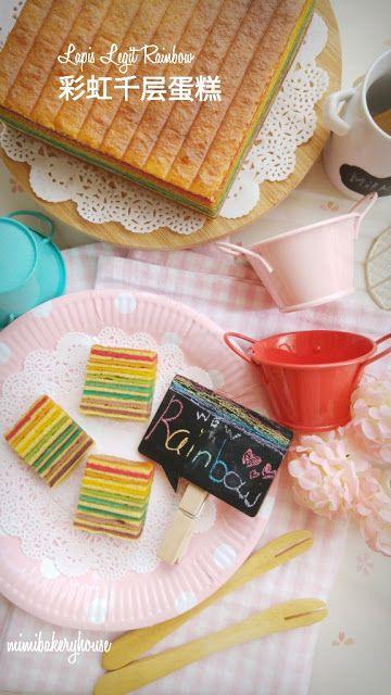 MiMi Bakery House: Kue Lapis Legit Rainbow 彩虹千层蛋糕