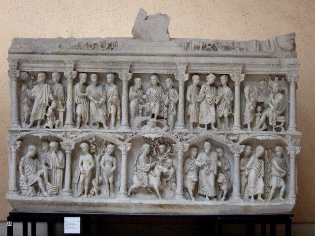Sarcofago di Giunio Basso, marmo, III sec. d.C, Museo del Tesoro di San Pietro, Città del Vaticano.