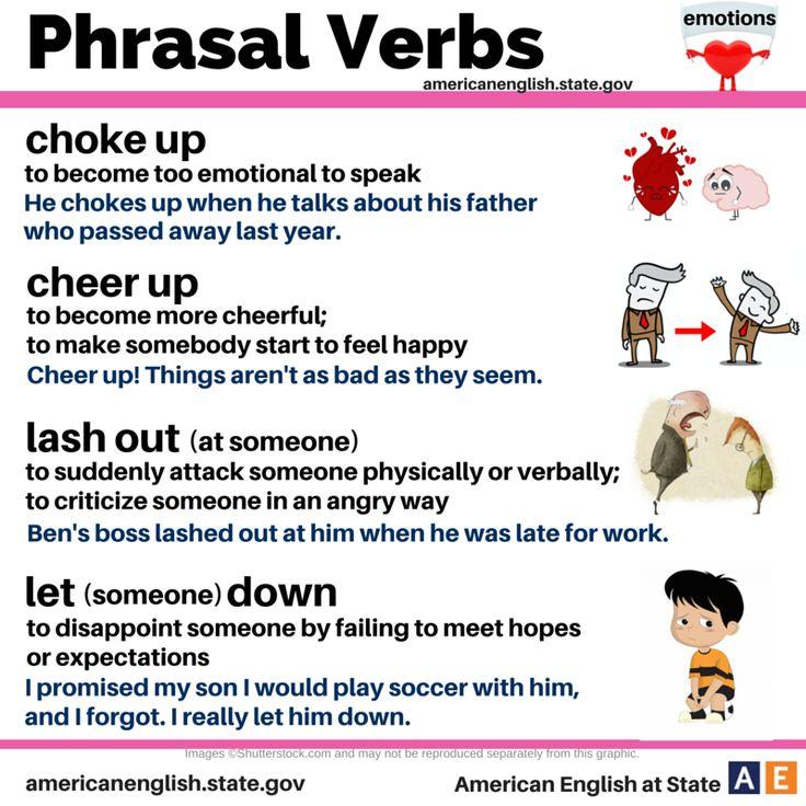 Phrasal Verbs: emotions