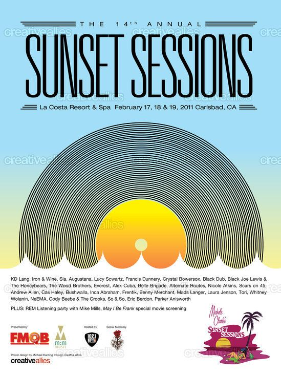 Sunset Sessions Poster by hardingdesign