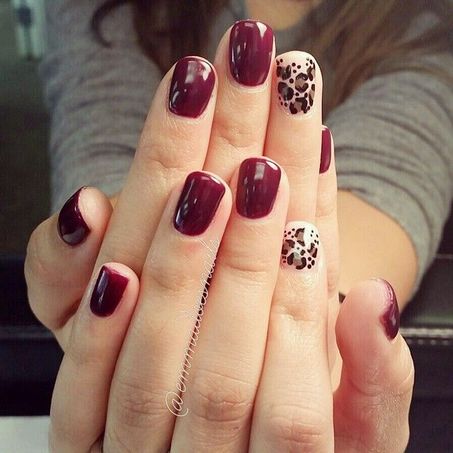 @emmadoesnails leopard nails cheetah nails red nails plum nails purple nails…