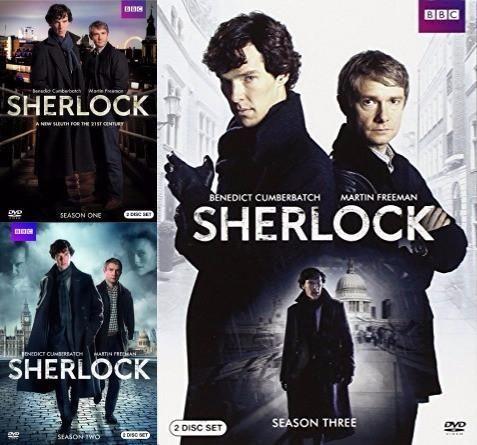 Sherlock Seasons 1-3 Set on DVD