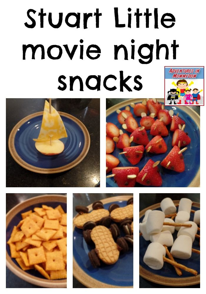 Stuart Little movie night snacks