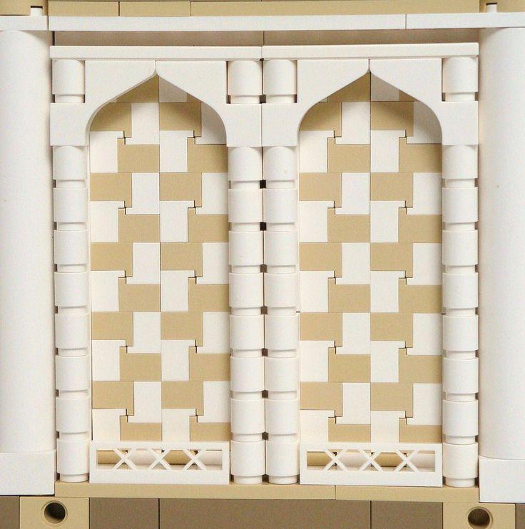 LEGO Prince of Persia MOC - Alamut Gate - side view mosaic detail