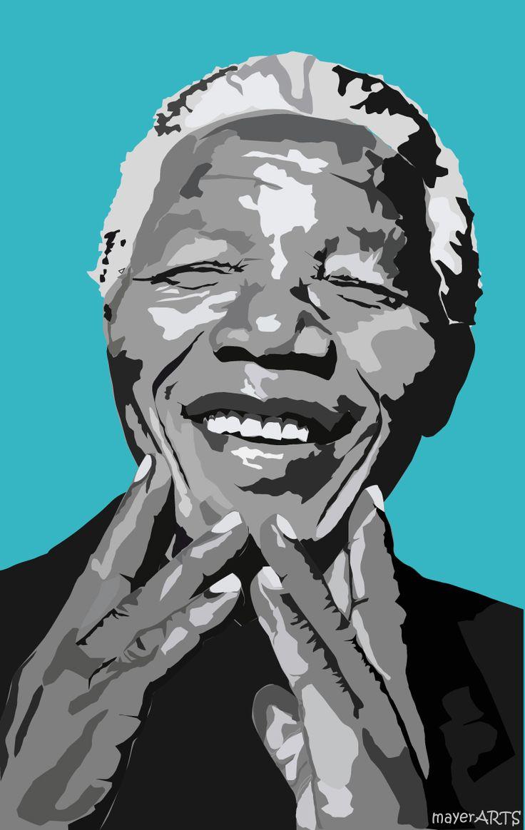 Nelson Mandela - illustrazione dedicata  al padre della lotta contro l'apartheid.