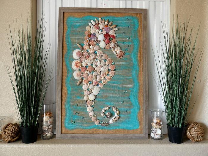 Diy Giant Seashell Seahorse Coastal Beach Wall Art Seahorse