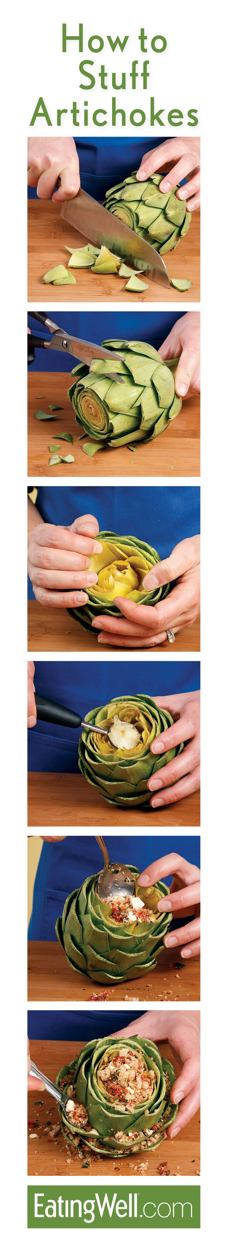 How to stuff artichokes -- Step by step instructions plus recipes