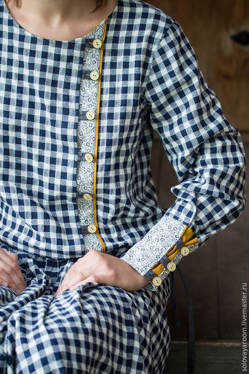 Linen dress / Oksana Solovaya https://www.etsy.com/shop/SomDress