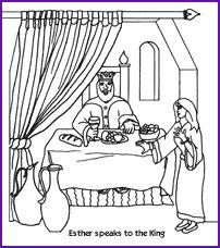 esther coloring page kids korner biblewise